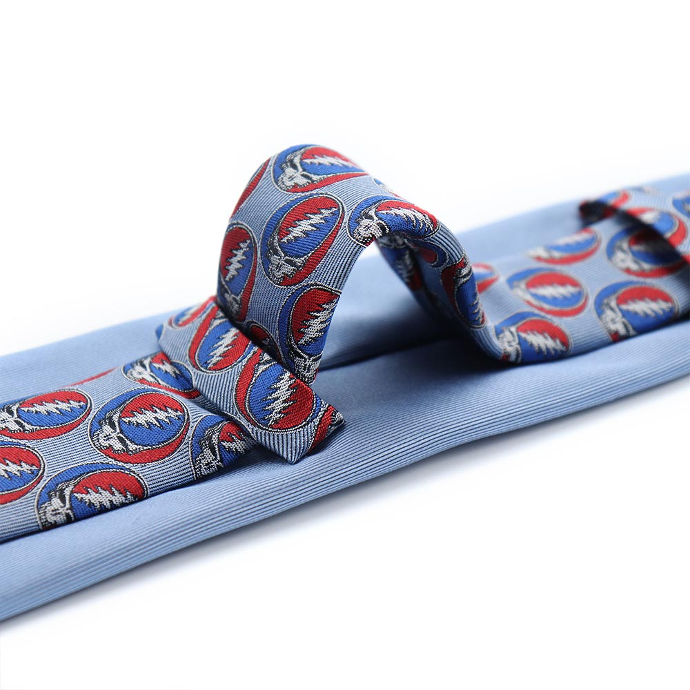 Double Loop Blue Grateful Dead Steal Your Face Tie by Section 119