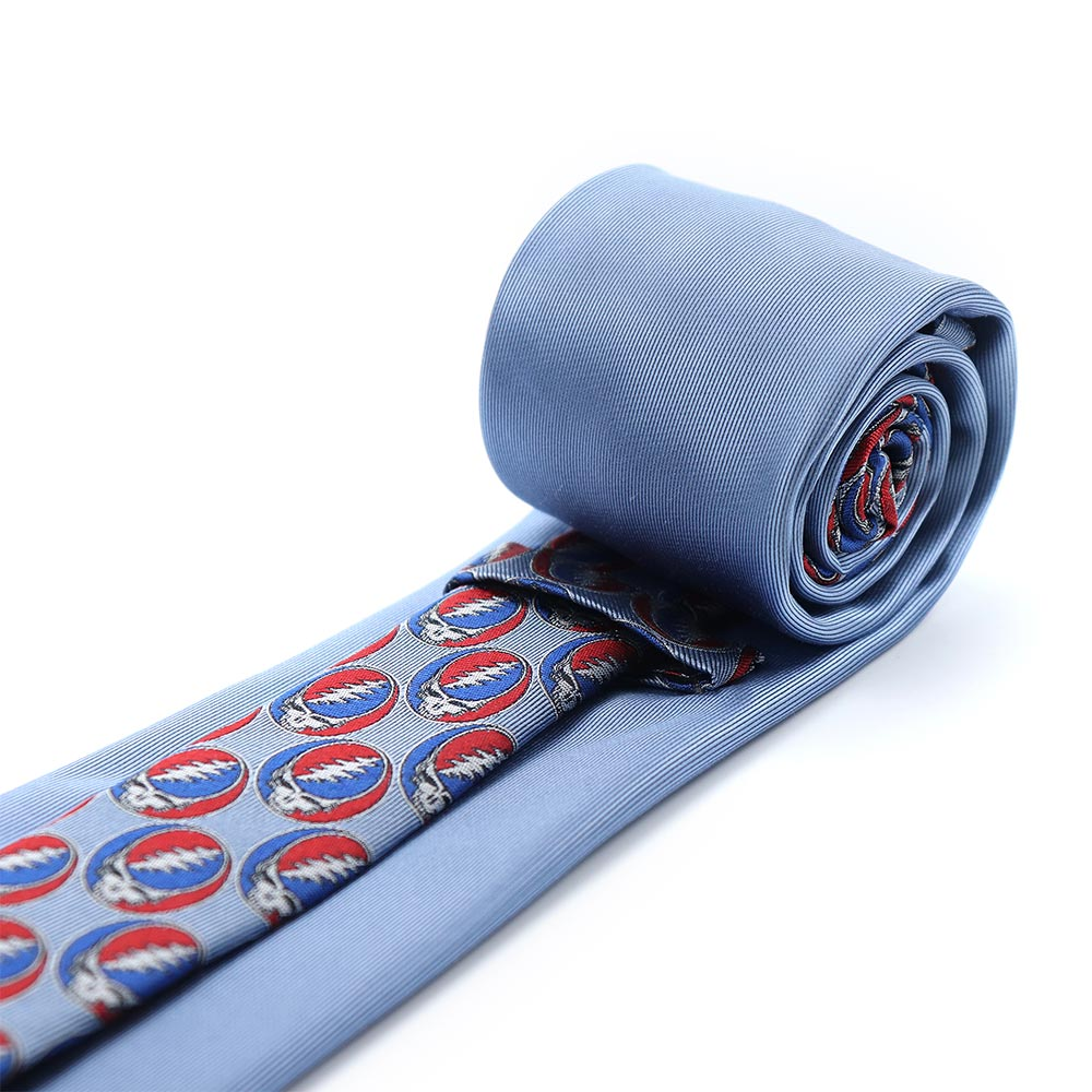 Blue Grateful Dead Steal Your Face Tie by Section 119