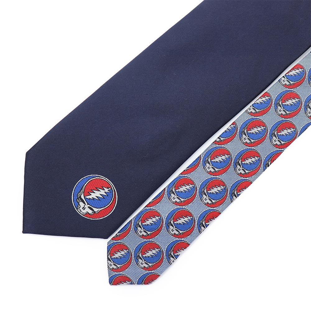Navy Grateful Dead Steal Your Face Tie by Section 119