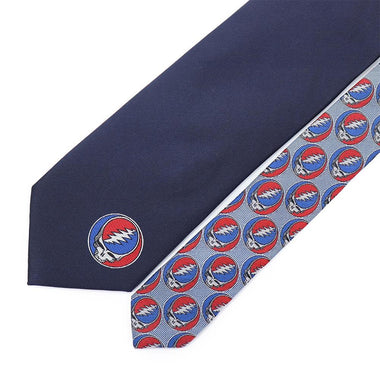 Grateful Dead Navy Steal Your Face Tie - Section 119