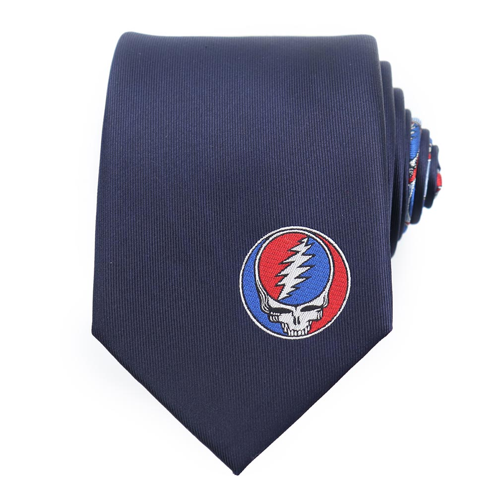 Navy Grateful Dead Steal Your Face Tie by Sec.119