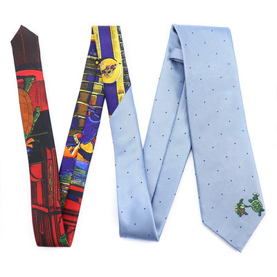 Blue Grateful Dead Dotted Terrapin Tie by Section 119