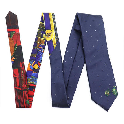 Navy Grateful Dead Dotted Terrapin Tie by Section 119