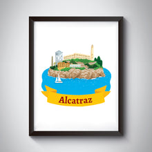 Load image into Gallery viewer, Alcatraz Art Print