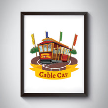 Load image into Gallery viewer, Cable Car Art Print