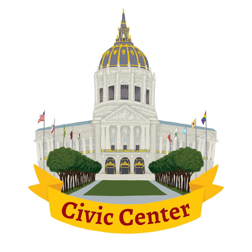 Civic Center Art Print