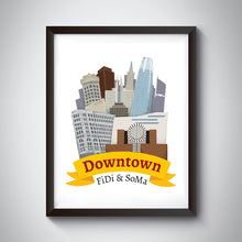 Load image into Gallery viewer, Downtown Art Print