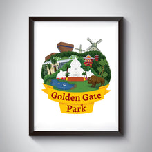 Load image into Gallery viewer, Golden Gate Park Art Print