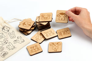 Memory Game Farm Animals