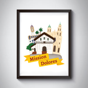 Mission Dolores Art Print