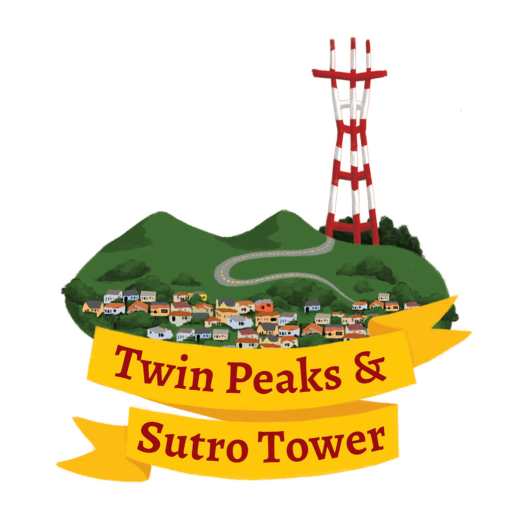 Twin Peaks and Sutro Tower Art Print