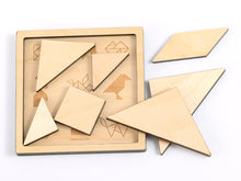 Load image into Gallery viewer, Wooden Tangram Puzzle