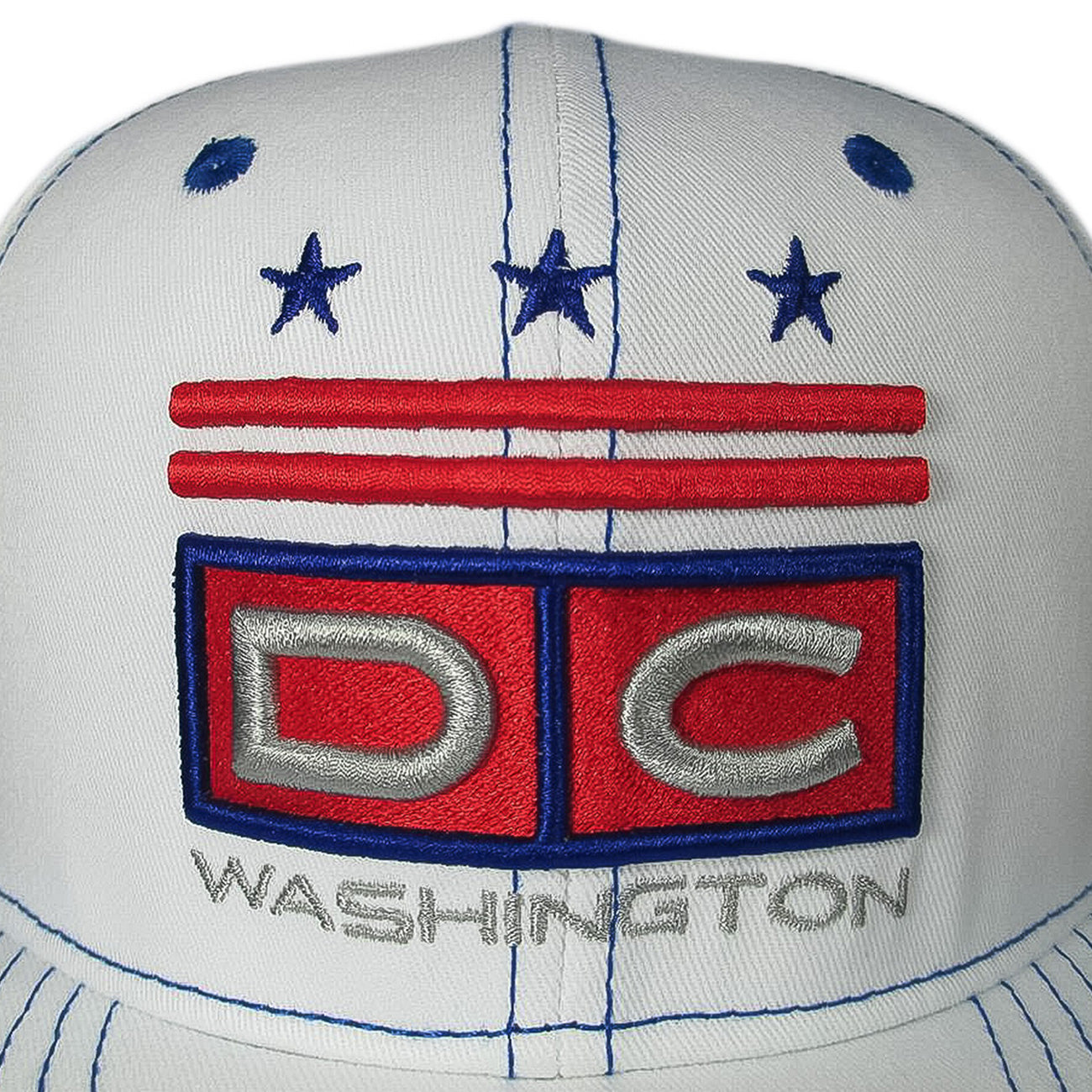 DC Snapback - White/Blue/Red