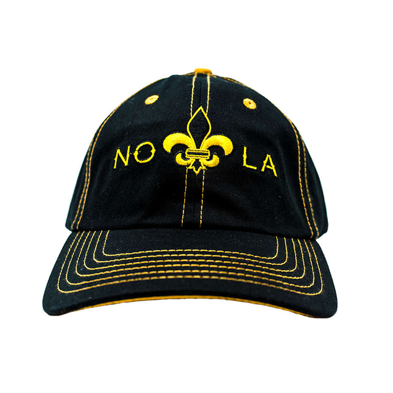 NOLA - Black/Gold Dads Cap