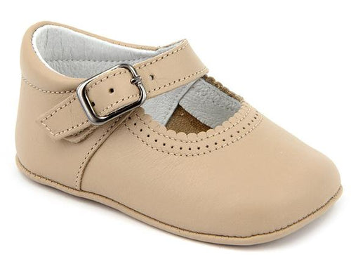 CAMEL MARY JANE SPANISH LEATHER SHOES