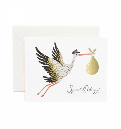 RIFLE PAPER CO STORK CARD