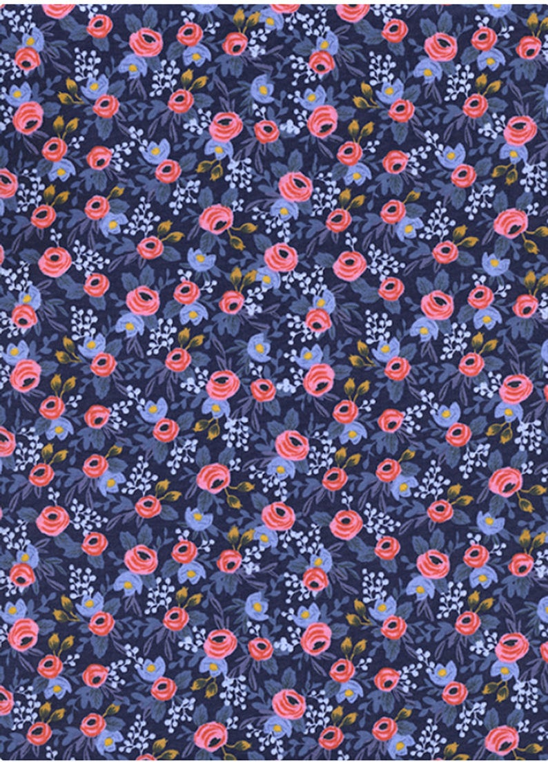 RIFLE PAPER CO HAIR CLIP LES FLEUR NAVY