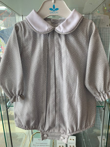 GRAY SPANISH ROMPER-6m only