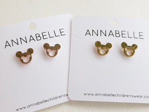 DOUBLE MOUSE STUD EARRINGS