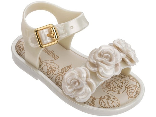MINI MELISSA MAR SANDAL OFF WHITE SIZE 5,6,8,9