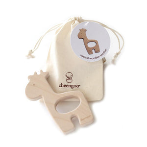 WOODEN TEETHING AID GIRAFFE