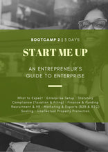 Load image into Gallery viewer, BOOT CAMP 2 | Hyderabad | 3 Days | Start Me Up: An Entrepreneur's Guide to Enterprise