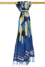 Load image into Gallery viewer, BAMBOO | Natural Dye Shibori Cotton Stole