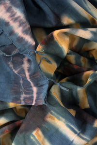Natural Dye Shibori Cotton Stole