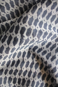 Natural Dye Block Print Cotton x Silk Fabric