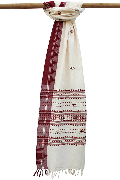 Natural Dye 'Aal' Cotton Dupatta