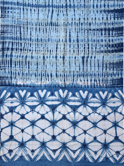 Natural Dye Shibori Silk x Cotton Sari