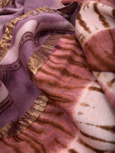 Load image into Gallery viewer, Natural Dye Shibori Silk x Cotton Sari