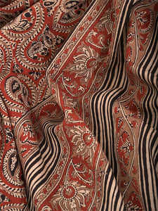 Natural Dye Block Print Cotton Sari