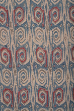 Load image into Gallery viewer, Natural Dye Block Print Tussar Silk x Cotton Fabric