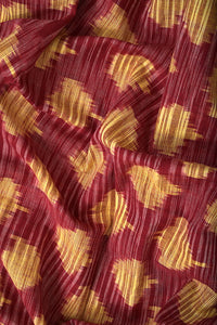 Safe Dye Random Ikat Cotton Fabric