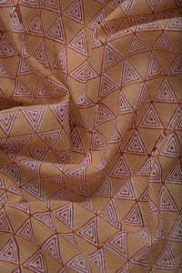 Natural Dye Block Print Cotton Fabric