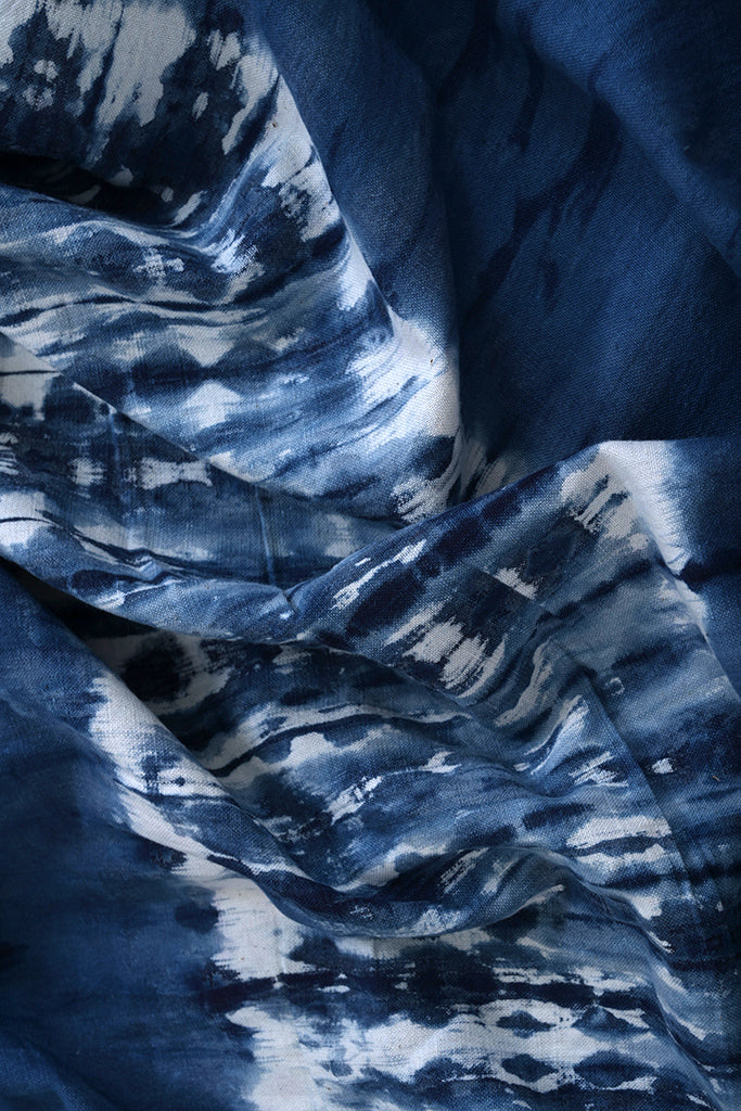 Natural Dye Shibori Cotton Fabric