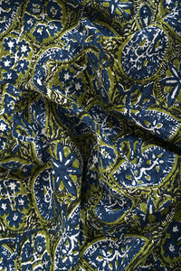 Azo Free Dye Block Print Cotton Fabric