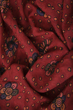 Load image into Gallery viewer, Natural Dye Hand-Painted Kalamkari Silk Fabric