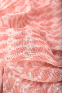 Natural Dye Block Print Cotton x Silk Stole