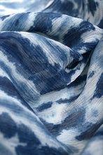 Load image into Gallery viewer, Natural Indigo Silk Chiffon Stole