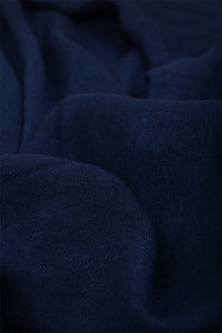 Natural Indigo Cotton x Silk Stole