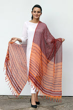 Load image into Gallery viewer, Natural Dye Shibori Filature Silk Dupatta - Creative Bee