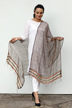 Load image into Gallery viewer, Natural Dye Block Print Filature Silk Dupatta - Creative Bee