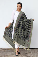Load image into Gallery viewer, Ikat Silk Dupatta - Creative Bee