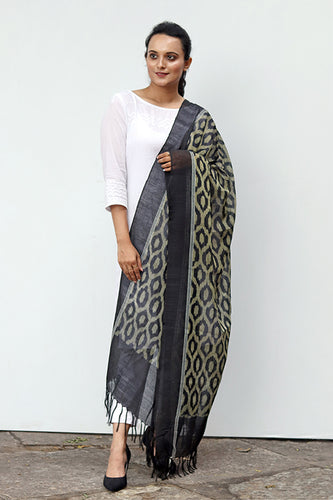 Ikat Silk Dupatta - Creative Bee