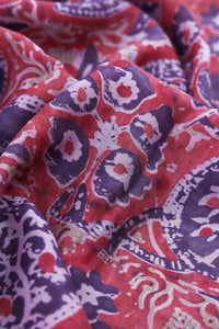 Natural Dye Block Print Silk Fabric - Creative Bee