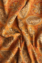 Load image into Gallery viewer, Natural Dye Block Print Cotton x Silk Fabric - Creative Bee