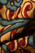 Load image into Gallery viewer, Natural Dye Hand-Painted Kalamkari Silk Fabric - Creative Bee
