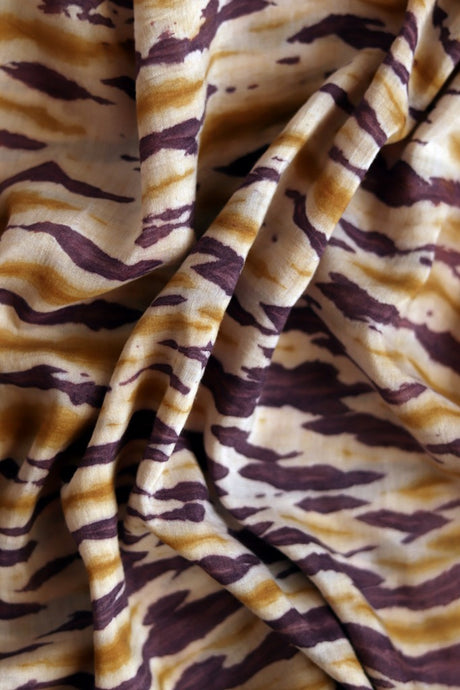 Natural Dye Shibori Cotton x Silk Fabric - Creative Bee